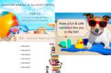 Summer Break | End of Year Recap Presentation | Top 10 [Editable]