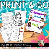 Summer Break Homework Pack {PRINT AND GO} - extra practice / morning work