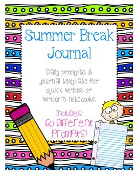 Summer Break Journal Daily Writing Prompts for Writer's Notebooks