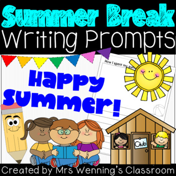Summer Break Journal Writing Templates!