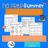 Summer Activities Kindergarten  Worksheets: Common Core Al