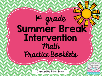 Summer Break Math for 1st Grade
