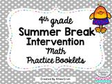 Summer Break Math for 4th Grade