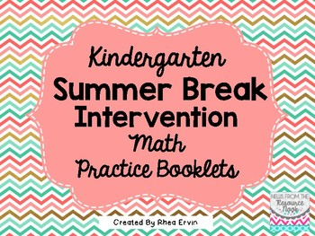 Summer Break Math for Kindergarten