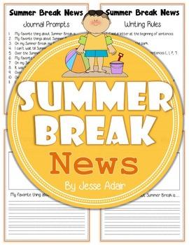 Summer Break News: Journal Prompts