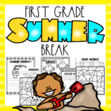 Summer Break Packet - First Grade   End of Year Review   Distance Learning