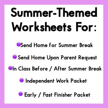Summer Packet - Kindergarten