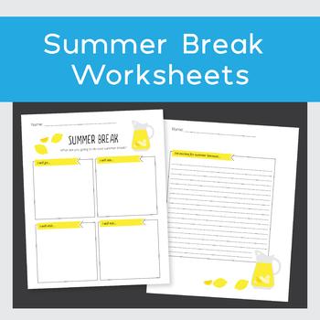 Summer Break Worksheets
