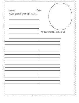 Summer Break Writing Activity