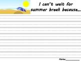 Summer Break Writing Prompts