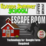 "End of the Year Escape Room ""Escape Summer School"" Summer Breakout"