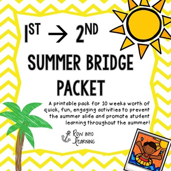 Summer Bridge Packet First grade --> Second Grade