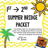 Summer Bridge Packet First grade --> Second Grade