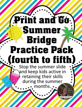 Summer Bridge Practice - No Prep - 4th Going Into 5th