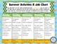 Summer Bridging Activities & Job Chart (primary)