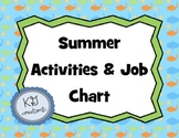 Summer Bridging Activities & Job Chart (primary)