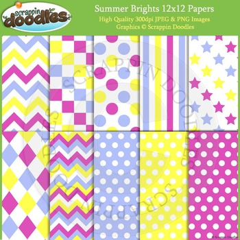 Summer Brights Backgrounds