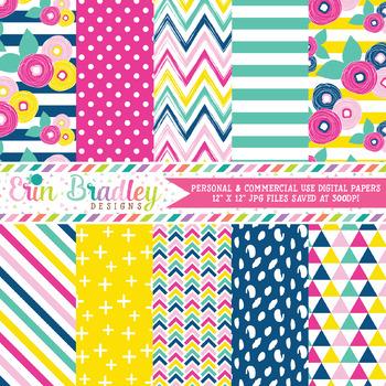 Summer Brights Digital Paper Pack