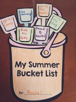 Summer Bucket List - Writing Templates and Craft