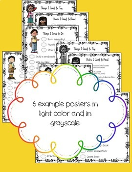 Summer Bucket List Posters, Book, and Bucket Pages