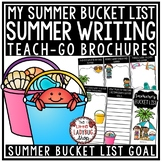 Summer Bucket List Activity Brochure for End of Year Writing Reflections