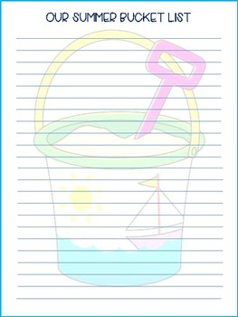 Summer Bucket List, Preschool Music