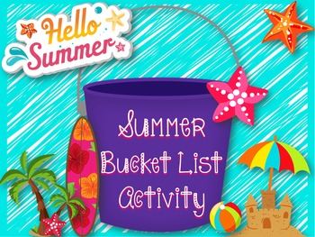 Summer Bucket List Activity & Ideas