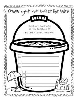 Summer Bucket List Book
