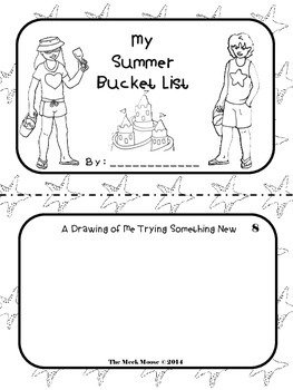 Summer Bucket List Booklet EOY Activity