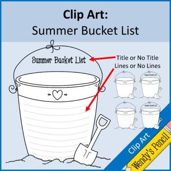 Summer Bucket List Clip Art