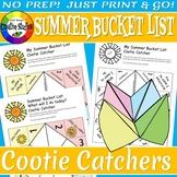 Summer Bucket List - Cootie Catcher Activity - No Prep!
