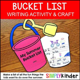 Summer Bucket List Craft & Writing Project