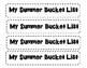Summer Bucket List Craft and Writing Activity