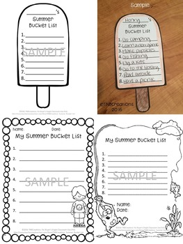 Summer Bucket List Crafts and Printables