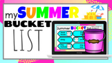 Summer Bucket List End of Year Distance Learning