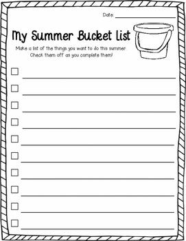 Summer Bucket List FREEBIE