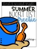Summer Bucket List FREEBIE for First & Second Grade