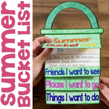 Summer Bucket List Flap Book End Of The Year Writing Craftivity Tpt