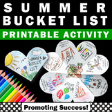 Printable Summer Bucket List Template, End of the Year Cra