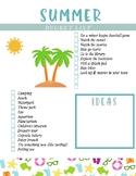 Summer Bucket List [Free]
