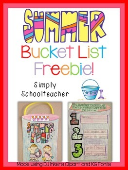 Summer Bucket List Freebie!