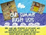 Summer Bucket List Hallway Display Signs {FREE}