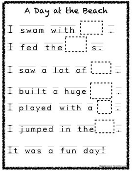 Summer Bucket List & Rebus Stories