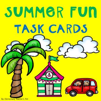 Summer Bucket List-Summer Task Cards