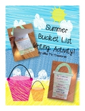 Summer Bucket List Writing Activity