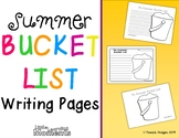 Summer Bucket List Writing Pages