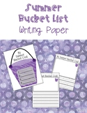 Summer Bucket List Writing Paper