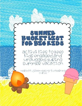 Summer Bucket List for Big Kids