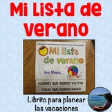 Summer Bucket List in Spanish - Vacaciones de verano