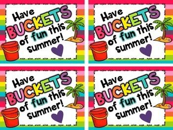 Summer Bucket Tags {Free!} Have Buckets of Fun This Summer!